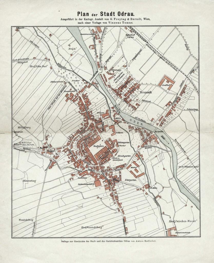 Plán města (1910) podle návrhu Vinzenze Tomase